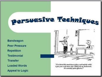 Persuasive Techniques PowerPoint with Relevant ExamplesTestimonial Advertising Technique