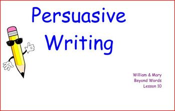 Persuasive Writing with the Hamburger Model