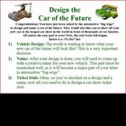 Persuasive letter writing project: design the car of the future