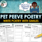 Pet Peeve Poem - Practice writing with similes
