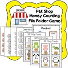 Pet Shop Money Counting File Folder Game