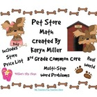 Pet Store Math - Multi-Step Word Problems - 3.OA.8 - CC 3r
