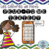 Peux-tu me Texter?  A French Sight Word Activity - Les Mot