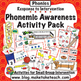 Phonemic Awareness Activity Pack- Response to Intervention