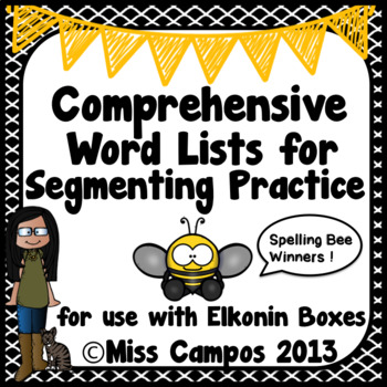 Phonemic Awareness: Leveled Word Lists for Segmenting Prac