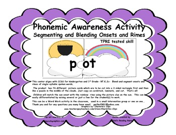 Phonemic Awareness   Segmenting and Blending Onsets and Rimes