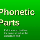 Phonetic Parts Same Vowel Sounds PowerPoint