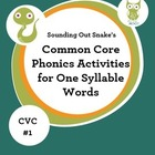Phonics Intervention for Special Education: One Syllable C