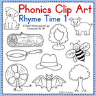 Phonics Clip Art:  Rhyme Time 1