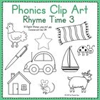 Phonics Clip Art:  Rhyme Time 3