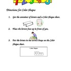 Phonics:  Color Shapes (English and Spanish)