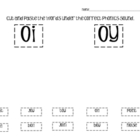 Phonics Cut and Paste - vowel diphthongs