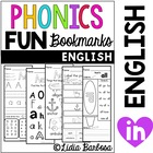 Phonics Fun Bookmarks Activities- English
