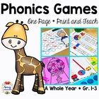 Phonics Games - Print and Go