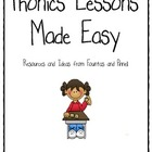 Phonics Lessons Made Easy Kindergarten