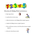 Phonics:  Making Words and Sentences (English and Spanish)
