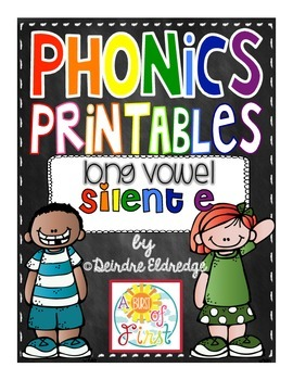 Phonics Printables- Silent E (Common Core Aligned)