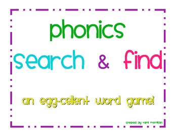 Phonics Search & Find [an EGG-cellent word HUNT!]