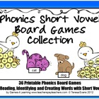Phonics Short Vowel Board Games Collection