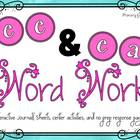 Phonics Word Work {ee, ea}