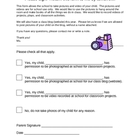 Photo and Blog Permission Form