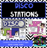 Physical Education Disco Stations for PE class or a School