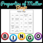 Physical Properties of Matter Bingo