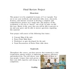 Physical Science Review Project NYS State Test