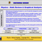 Physics Math Review & Graphical Analysis - Click & Teach