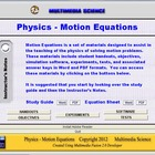 Physics Motion Equations Unit - Click & Teach