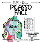 Art Lesson: Picasso Face Dice Drawing Sheet