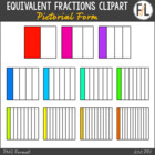 Pictorial Equivalent Fractions {Clipart Collection}