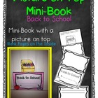 Picture on Top Mini Book {Back to School}