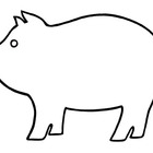 Pig: Black & White Outline/Shadow Puppet Template