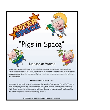 Pigs in Space ( Nonsense Words)