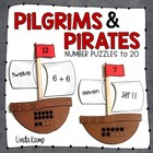 Pilgrims and Pirates {Math Puzzles to 20}