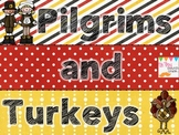 Pilgrims and Turkeys aThanksgiving MATH game for older kids...