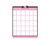 Pink and Black Polka Daisy Blank Calendar Page