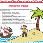 Pirate Fun! ~ Math and Language printables