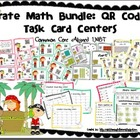 QR Code Pirate Math Bundle: Task Card Centers (Common Core
