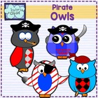 Clipart -Pirate Owls