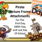 Pirate Picture Frame Attachments For First Day, 100th Day,