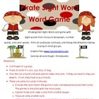 Pirate Sight Word Game! Kindergarten Harcourt words plus n