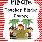 """Pirate Teacher Binder Covers and 2"""" Spines"""