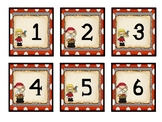 Pirate Theme Calendar Numbers