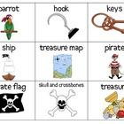 Pirate Theme Picture Cards for  Vocabulary--ESL