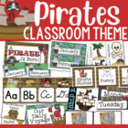 Pirate-Themed Classroom Decor and Organizational Pack