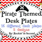 Pirate Themed Desk Plates