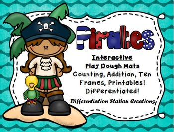 Pirates! Interactive Play Dough Mats, Counting Centers, Ga