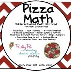 MATH STATIONS: Pizza Themed- 30 Full Color,Reusable Math Stations